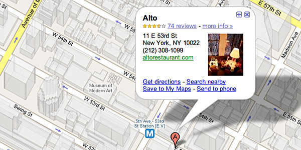 Restaurant: Alto (New York) « Austin Food Journal