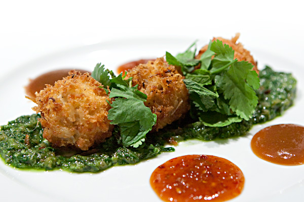 Crab Cake with Fresh Herbs and Chili Sauce