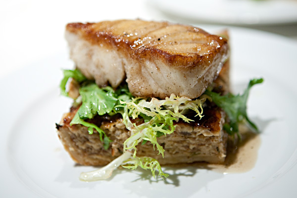 Sea Bass and Onion Tart