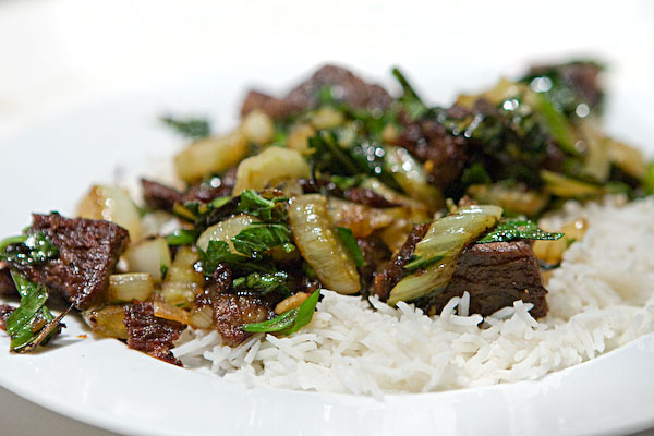 Braised Beef and Bok Choi